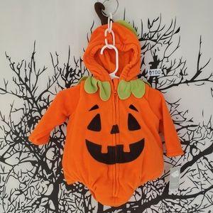 NWT Baby Pumpkin Costume Outfit Jack-O-Lantern 3-6